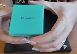 Unboxing Reveal Tiffany & Co Etoile Solitaire Diamond Engagement Ring
