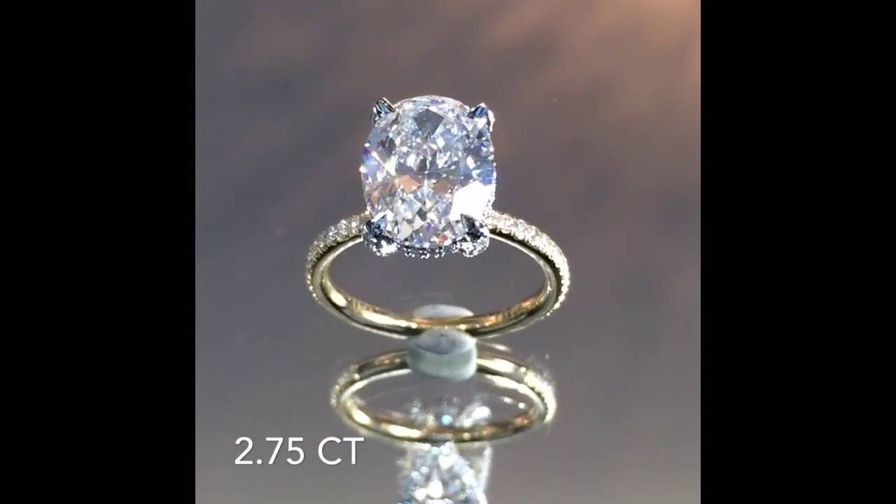 2 75 Ct Oval Diamond Engagement Ring