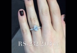2.03 ct Oval Diamond Engagement Ring